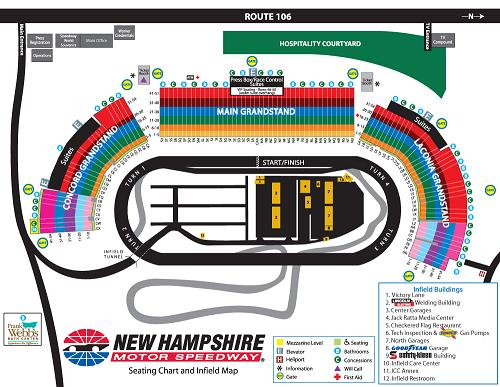 New Hampshire Motor Speedway Seating Chart & Map | SeatGeek