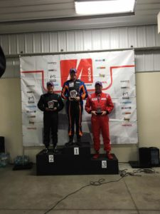 Leverone atop the podium at the Pittsburgh Double Major!