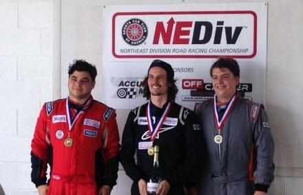 As soon as he stepped into a Spec Miata, JT (right) hit the podium!